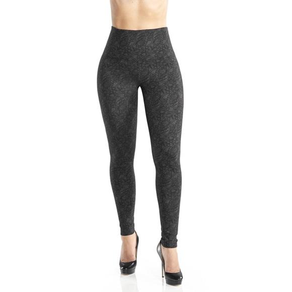 5c06536a6d Lysse Pants   Black Floral Lace Ponte Leggings   Poshmark